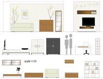 Möbel. Designwohnzimmer. Innenmöbel. Stockbilder