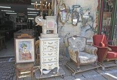 Möbel und Hauptdekor kaufen in altem Yaffo, Israel Stockfotos
