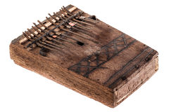 Mbira. An african instrument named Mbira,  that consists of a wooden board with attached staggered metal keys Stock Photography