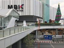 MBK在圣诞前夕,曼谷的商城 库存照片