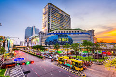 MBK in Bangkok. BANGKOK, THAILAND - OCTOBER 2, 2015: MBK Shopping Center. It was the largest mall in Asia when opened in 1985 and still receives more than 100 Royalty Free Stock Images