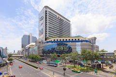 The MBK center Bangkok shopping mall. Bangkok, Thailand - July 23, 2015: MBK Center is a popular shopping mall containing 2000 shops, restaurants and service Royalty Free Stock Photos