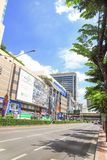 MBK Center,  shopping mall in Bangkok. MBK Center, also known as Mahboonkrong , is a large shopping mall in Bangkok, Thailand. At eight stories high, the center Royalty Free Stock Image
