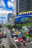 MBK Center,  shopping mall in Bangkok. MBK Center, also known as Mahboonkrong , is a large shopping mall in Bangkok, Thailand. At eight stories high, the center Royalty Free Stock Photography