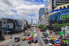 MBK Center,  shopping mall in Bangkok, cityscape Royalty Free Stock Photos