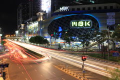 MBK Center. Thailand traffic jam royalty free stock photography