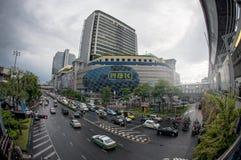 MBK centram-se, igualmente sabido como Mahboonkrong, em Tailândia Fotografia de Stock Royalty Free