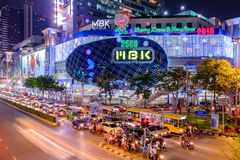 MBK's shopping mall at night Royalty Free Stock Images