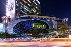 MBK's shopping mall at night Royalty Free Stock Photography