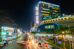 MBK's shopping mall at night, MBK Center Stock Photography
