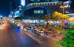 MBK shopping mall at night, Bangkok Royalty Free Stock Photography