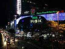 MBK-shoppinggalleria i centrala Bangkok Arkivfoton