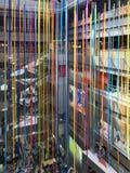 MBK-shoppinggallerian dekorerade för jul, den Bangkok staden Arkivbilder