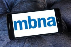 MBNA Corporation logo. Logo of MBNA Corporation on samsung mobile. MBNA Corporation is a bank holding company and parent company of wholly owned subsidiary MBNA Royalty Free Stock Image
