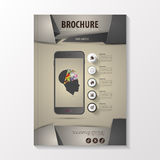 MbroVector luxurious brochure template design with origami style. Infographic creative mind. Illustration Stock Photos