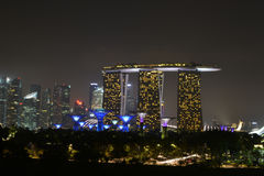 MBS. Beautiful night scene of the landscape at MBS, Singapore Stock Photos