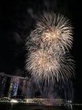 MBS dos fogos-de-artifício de NDP 2017 Imagem de Stock