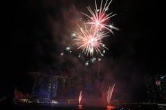 MBS dos fogos-de-artifício de NDP 2017 Foto de Stock Royalty Free