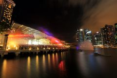 MBS light show Singapore Stock Images