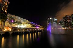 MBS light show Singapore Royalty Free Stock Photography