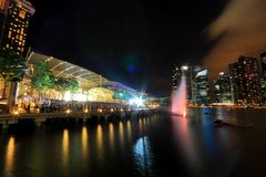 MBS light show Singapore Stock Image