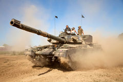 MBT in dust storm Royalty Free Stock Images
