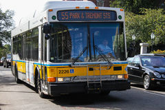 MBTA bus Royalty Free Stock Photo