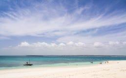 Mbudya-Insel in Tansania, Afrika, lizenzfreies stockbild