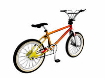 Mbx bicycle over white. Mbx bicycle over white, 3d render illustration. Leisure bicycle for sports, competition and stunt work Royalty Free Stock Photos
