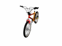 Mbx bicycle over white. Royalty Free Stock Images