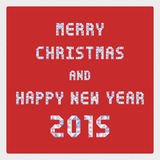 MC и HNY 2015 приветствуя card2 Стоковое Изображение