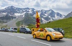 Mc Cain pojazd - tour de france 2014 fotografia royalty free