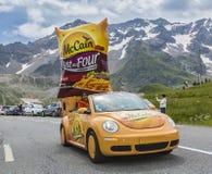 Mc Cain Vehicle - Tour de France 2014. Col du Lautaret, France - July 19, 2014: The vehicle of Mc Cain during the passing of the advertising caravan on mountain Stock Image