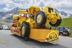 Mc Cain Vehicle - Tour de France 2014 Royalty Free Stock Image