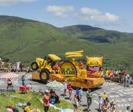 Mc Cain Vehicle - Tour de France 2014 Royalty Free Stock Photo