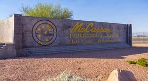 - 12, 2017 Mc Carran lotnisko międzynarodowe w Las Vegas, LAS VEGAS, NEVADA, PAŹDZIERNIKU - Zdjęcie Stock