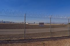 - 12, 2017 Mc Carran lotnisko międzynarodowe w Las Vegas, LAS VEGAS, NEVADA, PAŹDZIERNIKU - Fotografia Stock