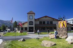 Mc Donald in Mammoth Lakes Stock Photo