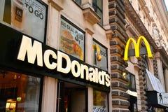 Mc donald's company logo Royalty Free Stock Photos