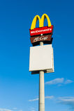 Mc Donald's logo Stock Photo