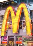 Mc Donald's logo in Times Square,New York Royalty Free Stock Photo