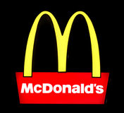 Mc Donald's sign Stock Image