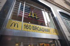 Mc Donalds establishment on broadway Royalty Free Stock Photos