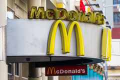 Mc Donalds, Hollywood. Hollywood, California - February 08 : Mc Donald's restaurant in downtown Hollywood, February 08 2015 in Hollywood, California Stock Images