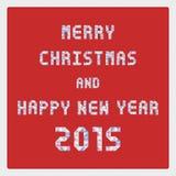 MC e HNY 2015 card2 de cumprimento Imagem de Stock