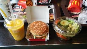 Mc eat. A Burger with a salad Stock Photo