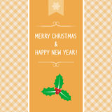 MC et HNY card5 de salutation Image stock