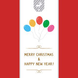 MC et HNY card7 de salutation Photographie stock libre de droits