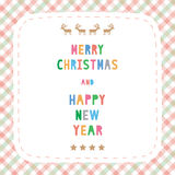 MC et HNY card18 de salutation Image stock