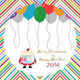 MC and HNY 5. Card for Merry Christmas and Happy New Year Stock Images